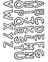 Imprimer le dessin en couleurs : Alphabet, numéro 151988