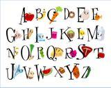 Imprimer le dessin en couleurs : Alphabet, numéro 151997