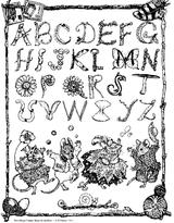 Imprimer le coloriage : Alphabet, numéro 161457