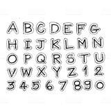 Imprimer le coloriage : Alphabet, numéro 16ba7700