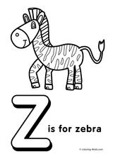 Imprimer le coloriage : Alphabet, numéro 197f14ba