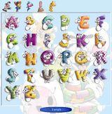 Imprimer le dessin en couleurs : Alphabet, numéro 48447