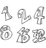 Imprimer le dessin en couleurs : Chiffre deux, numéro 11549