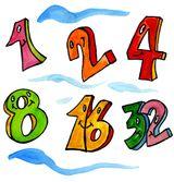 Imprimer le dessin en couleurs : Chiffre deux, numéro 11554