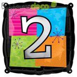 Imprimer le dessin en couleurs : Chiffre deux, numéro 12724