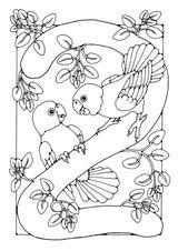 Imprimer le coloriage : Chiffre deux, numéro 17347