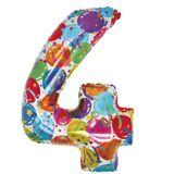 Imprimer le dessin en couleurs : Chiffre quatre, numéro 12694