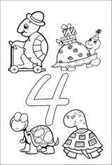 Imprimer le coloriage : Chiffre quatre, numéro 23602