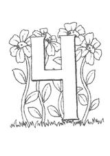 Imprimer le coloriage : Chiffre quatre, numéro 27937