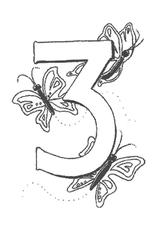 Imprimer le coloriage : Chiffre trois, numéro 146486