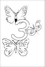 Imprimer le coloriage : Chiffre trois, numéro 23598
