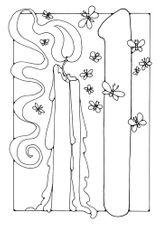 Imprimer le coloriage : Chiffre un, numéro 167487