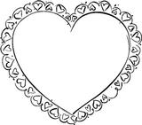 Imprimer le coloriage : Coeur, numéro 128713