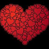Imprimer le dessin en couleurs : Coeur, numéro 180043