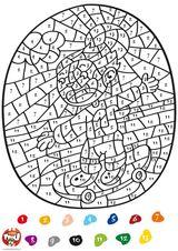 Imprimer le dessin en couleurs : Coloriages magiques, numéro 579872