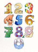 Imprimer le dessin en couleurs : Tous les chiffres, numéro 402889