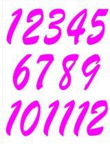 Imprimer le dessin en couleurs : Tous les chiffres, numéro 484476