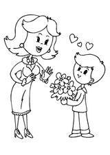Imprimer le coloriage : Fête des mères, numéro 124833