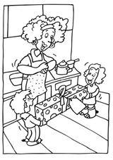 Imprimer le coloriage : Fête des mères, numéro 163744