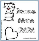 Imprimer le dessin en couleurs : Fête des pères, numéro 120957