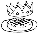 Imprimer le coloriage : Galette des Rois, numéro 16738