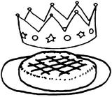 Imprimer le coloriage : Galette des Rois, numéro 213407
