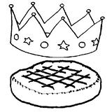 Imprimer le coloriage : Galette des Rois, numéro 4173