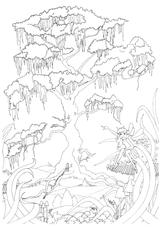 Imprimer le coloriage : Arbres, numéro 1129