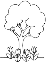 Imprimer le coloriage : Arbres, numéro 3169