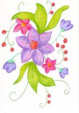 Imprimer le dessin en couleurs : Fleurs, numéro 11806