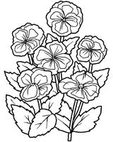 Imprimer le coloriage : Fleurs, numéro 6951