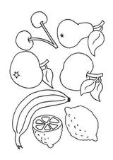 Imprimer le dessin en couleurs : Fruits, numéro 476749