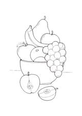 Imprimer le dessin en couleurs : Fruits, numéro 489095