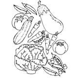 Imprimer le coloriage : Légumes, numéro 13086