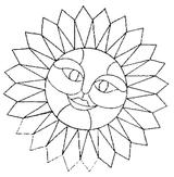 Imprimer le coloriage : Soleil, numéro 128768