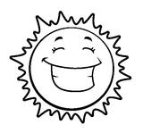 Imprimer le coloriage : Soleil, numéro 128789