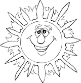 Imprimer le coloriage : Soleil, numéro 146144