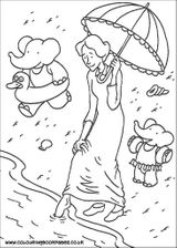 Imprimer le coloriage : Babar, numéro 128406