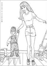 Imprimer le coloriage : Barbie, numéro 115083