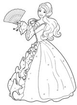 Imprimer le coloriage : Barbie, numéro 9428