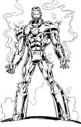 Imprimer le coloriage : Iron Man, numéro 113383