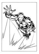 Imprimer le coloriage : Iron Man, numéro 113390