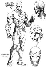 Imprimer le coloriage : Iron Man, numéro 127995