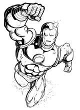 Imprimer le coloriage : Iron Man, numéro 128004