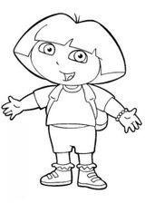 Imprimer le coloriage : Dora, numéro 10078e2e