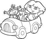 Imprimer le coloriage : Dora, numéro 1264342