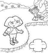 Imprimer le coloriage : Dora, numéro 128824