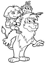Imprimer le coloriage : Dora, numéro 128834
