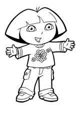 Imprimer le coloriage : Dora, numéro 13463cf6