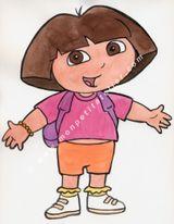 Imprimer le dessin en couleurs : Dora, numéro 136863
